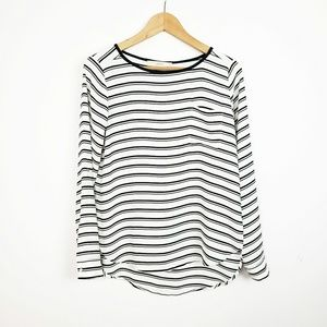 LOFT Striped Blouse | XS